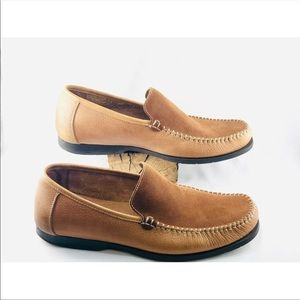 Hush Puppies Shoes - HUSH PUPPIES- Men's two-tone slip on loafers